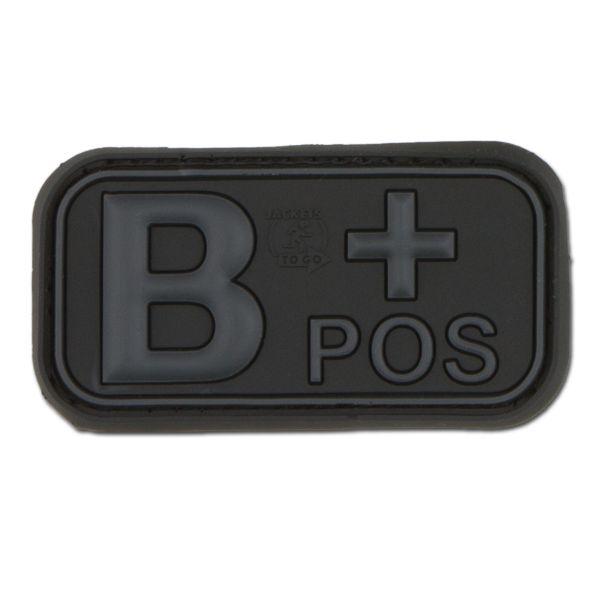 Patch 3D groupe sanguin B Pos blackops