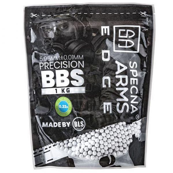 Specna Arms Billes Edge Bio Precision 0.32 g 3100 pièces blanc
