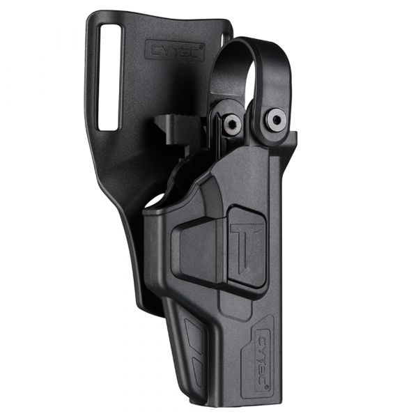 Cytac Paddle holster Duty Glock 17 & 19 Lvl 3 droitiers noir