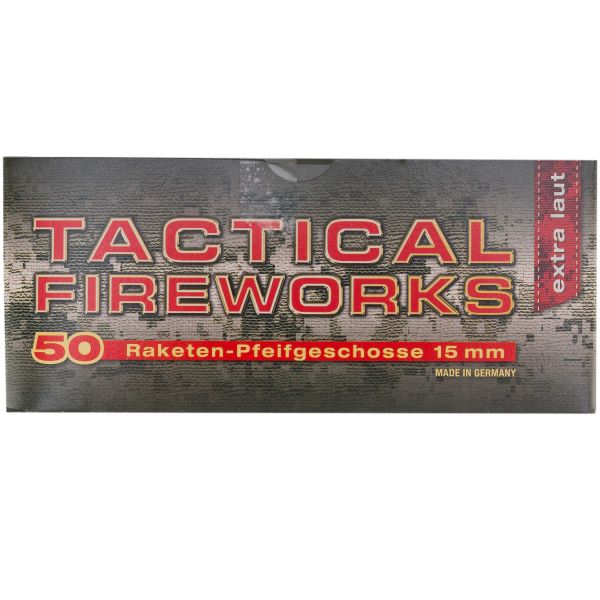Feu d'artifice Tactical Fireworks sifflantes cal 15 mm 50 pcs