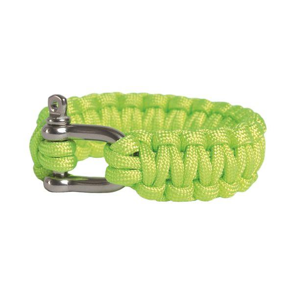 Bracelet de Survie Paracorde Fermoir métallique vert