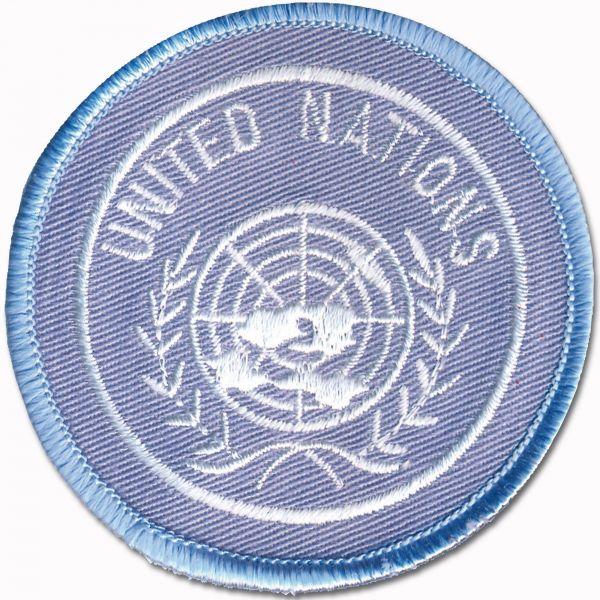 Insigne de béret tissu BW ONU