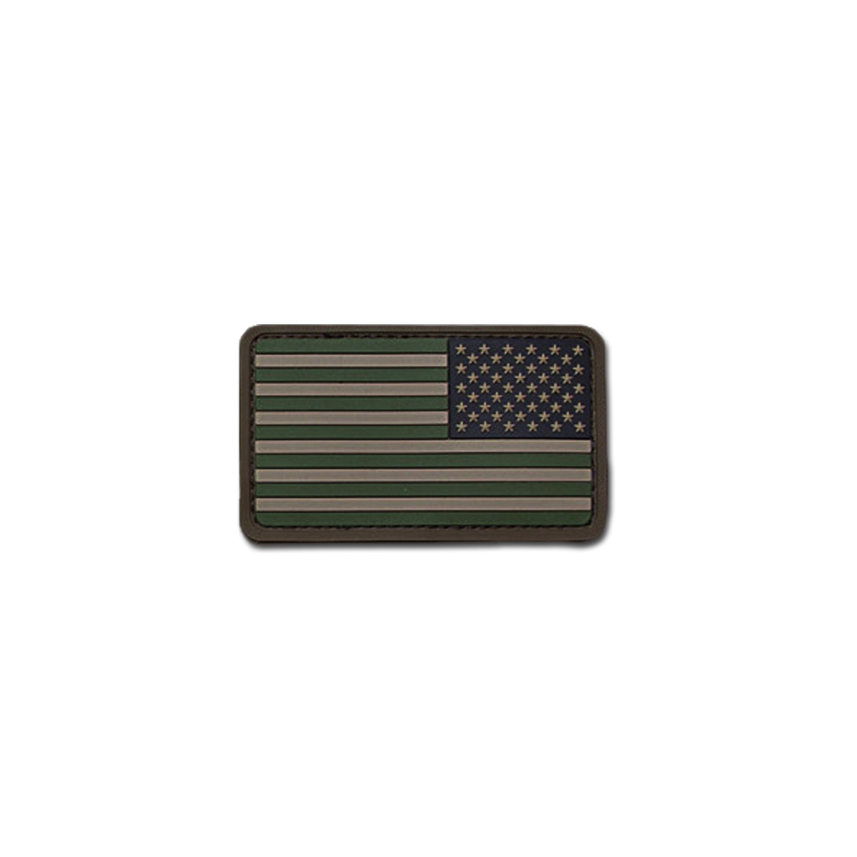 Patch MilSpecMonkey US Flag REV PVC forest