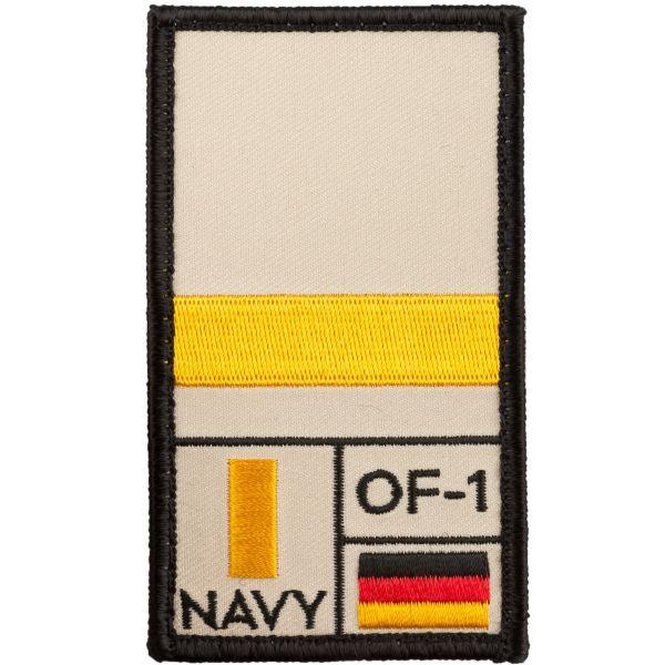 Café Viereck Patch Grade Leutnant zur See sable