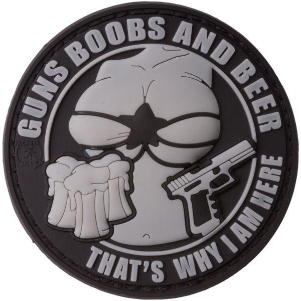 JTG Patch 3D Guns Boobs and Beer