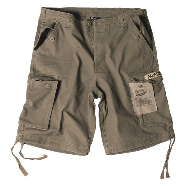Shorts Paratrooper washed kaki