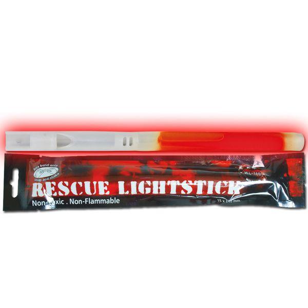 Bâton lumineux Mil-Tec Rescue rouge