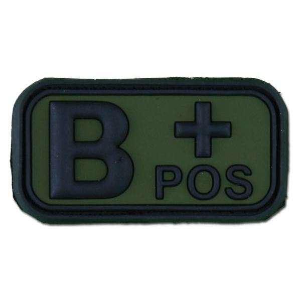 Patch 3D groupe sanguin B Pos forest