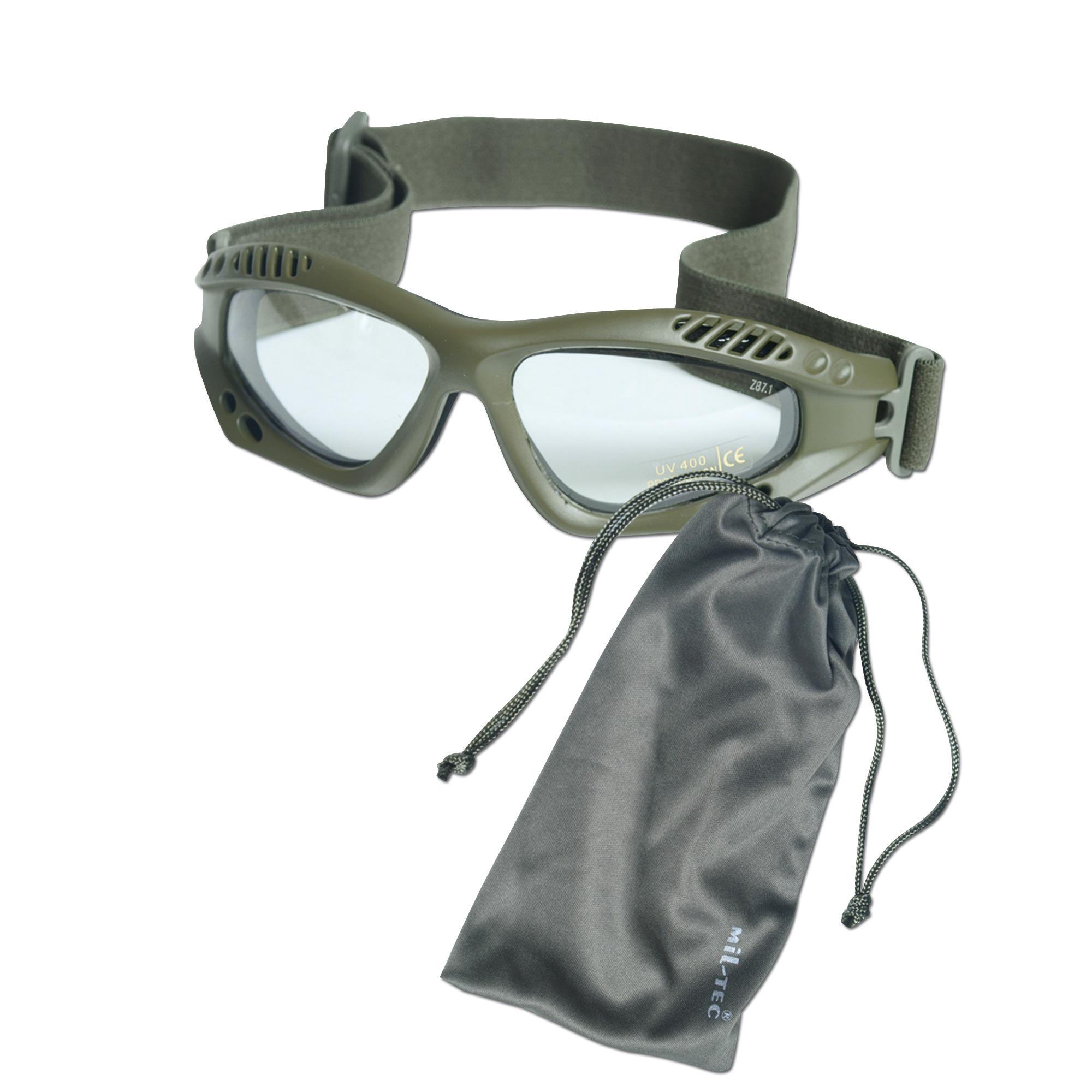 Masque de protection Commando Air-Pro kaki clair