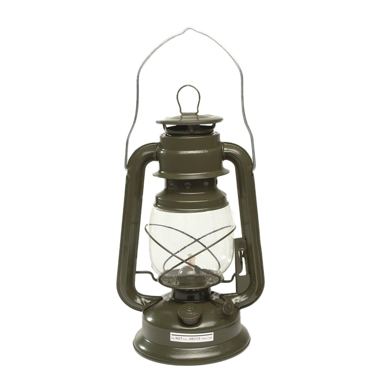 Lampe-temp/ête kaki 28 cm