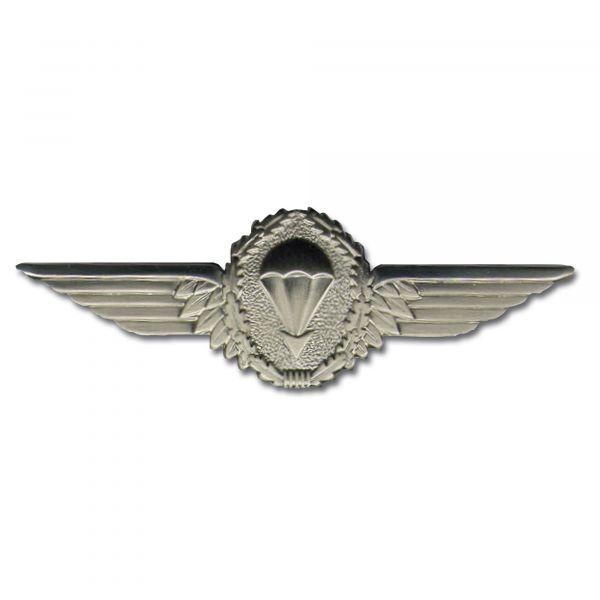 Insigne métallique parachutiste BW argent