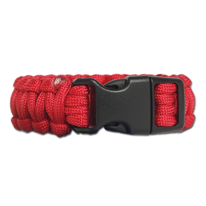 Bracelet Survival Paracord large rouge