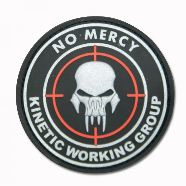Patch 3D NO MERCY - KINETIC WORKING GROUP noir