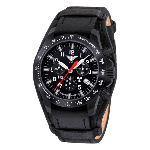 Montre KHS Platoon Chronograph LDR bracelet cuir G-Pad