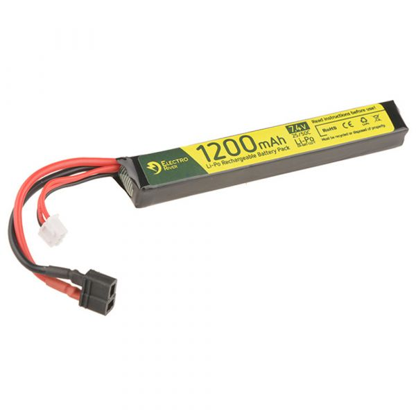 Electro River Batterie Li-Po 7,4 V 1200 mAh Stick 25/50C Dean