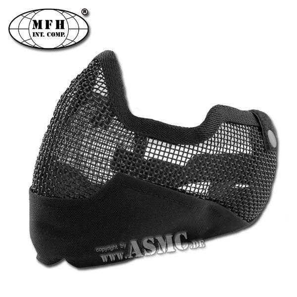 MFH Masque grillagé Airsoft noir