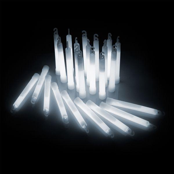 KNIXS Bâtons lumineux Power blanc glacier lot de 25