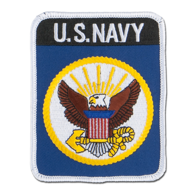 Insigne Tissu US Navy rectangulaire