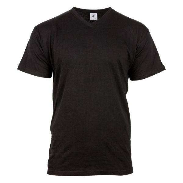T-shirt v-neck noir