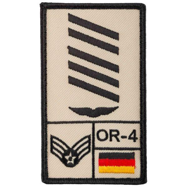 Café-Viereck Patch Grade Oberstabsgefreiter Luftwaffe sable