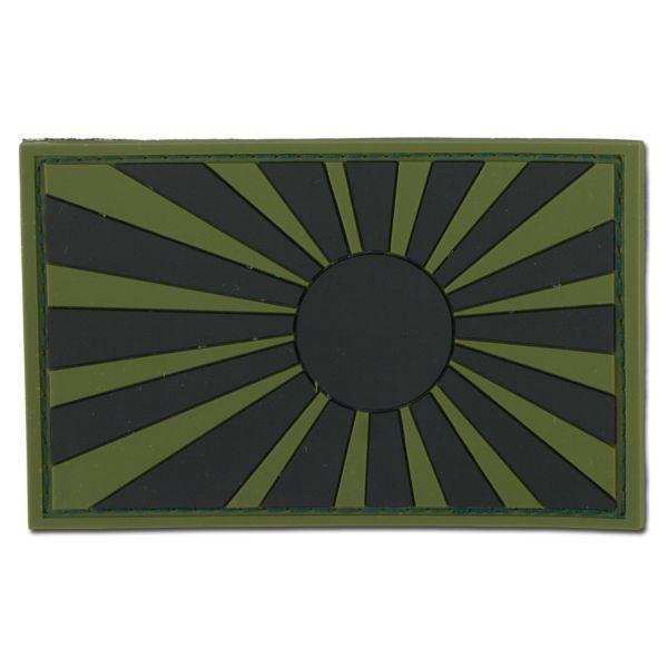Patch 3D Drapeau de guerre Japon kaki/noir