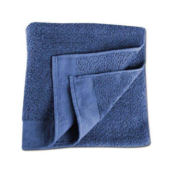 Serviette éponge bleue 90 x 50 cm