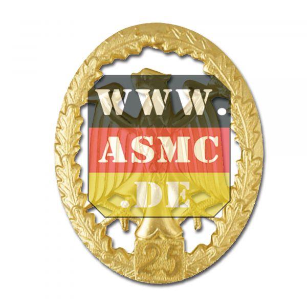 Badge de Compétence Métallique or Chiffre 25