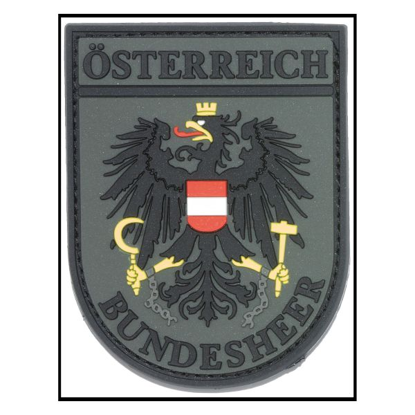 Patch 3D Insigne Bundesheer Autriche kaki drap coloré