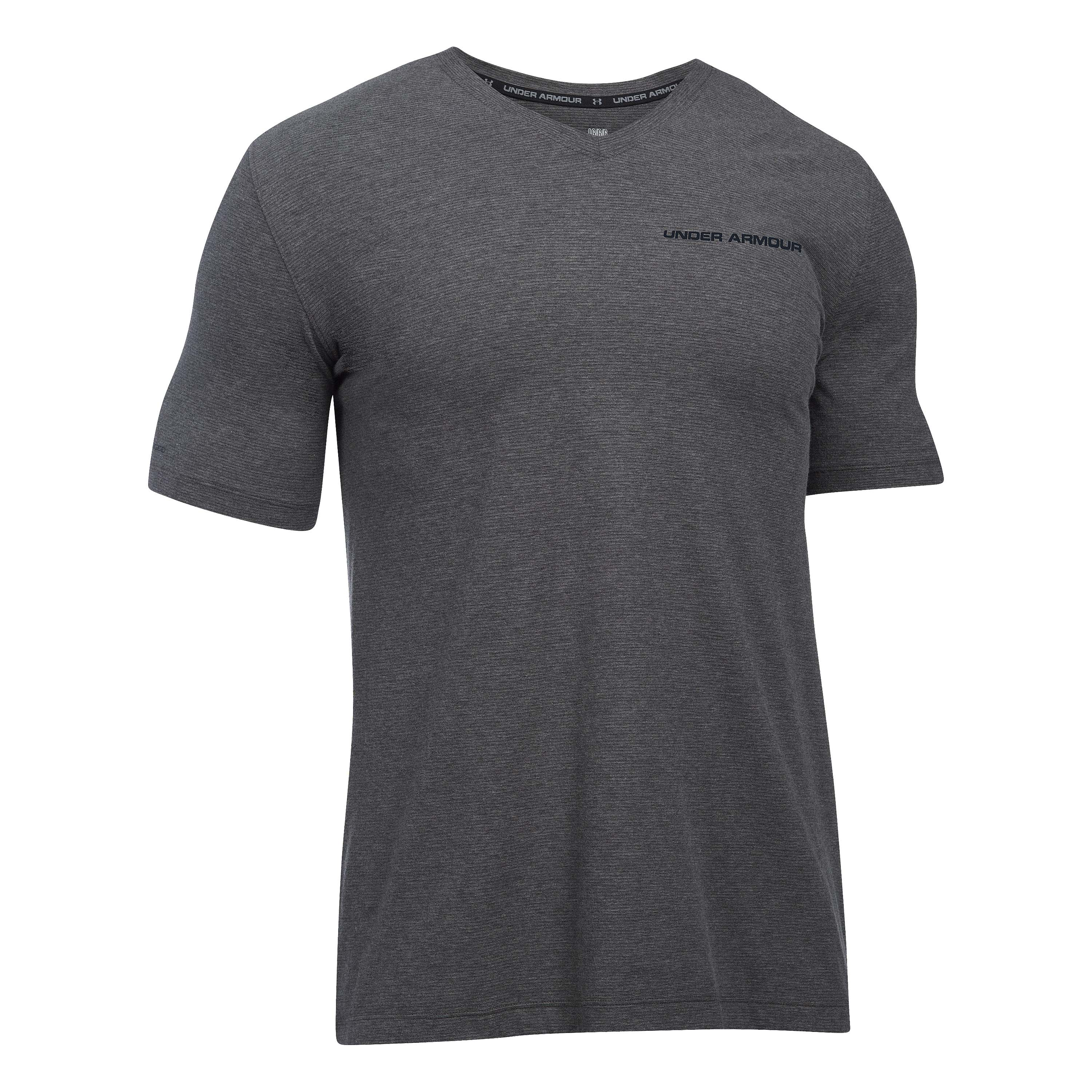 T-Shirt Under Armour col en V Charged Cotton anthracite
