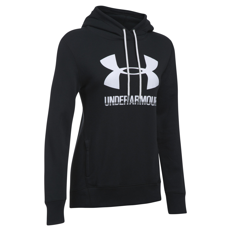 Under Armour Hoodie Femmes Favorite Fleece Logo noir blanc