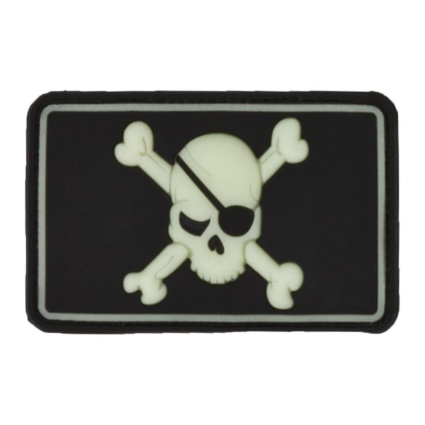 Patch 3D-Patch Pirate Skull luminescent