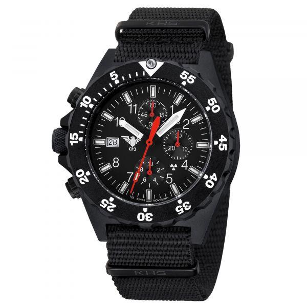 Montre KHS Shooter Chronograph bracelet Otan noir