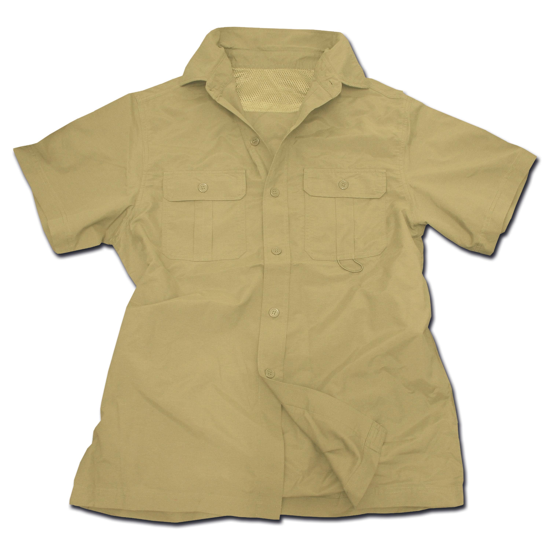 Chemise Outdoor à manches courtes beige