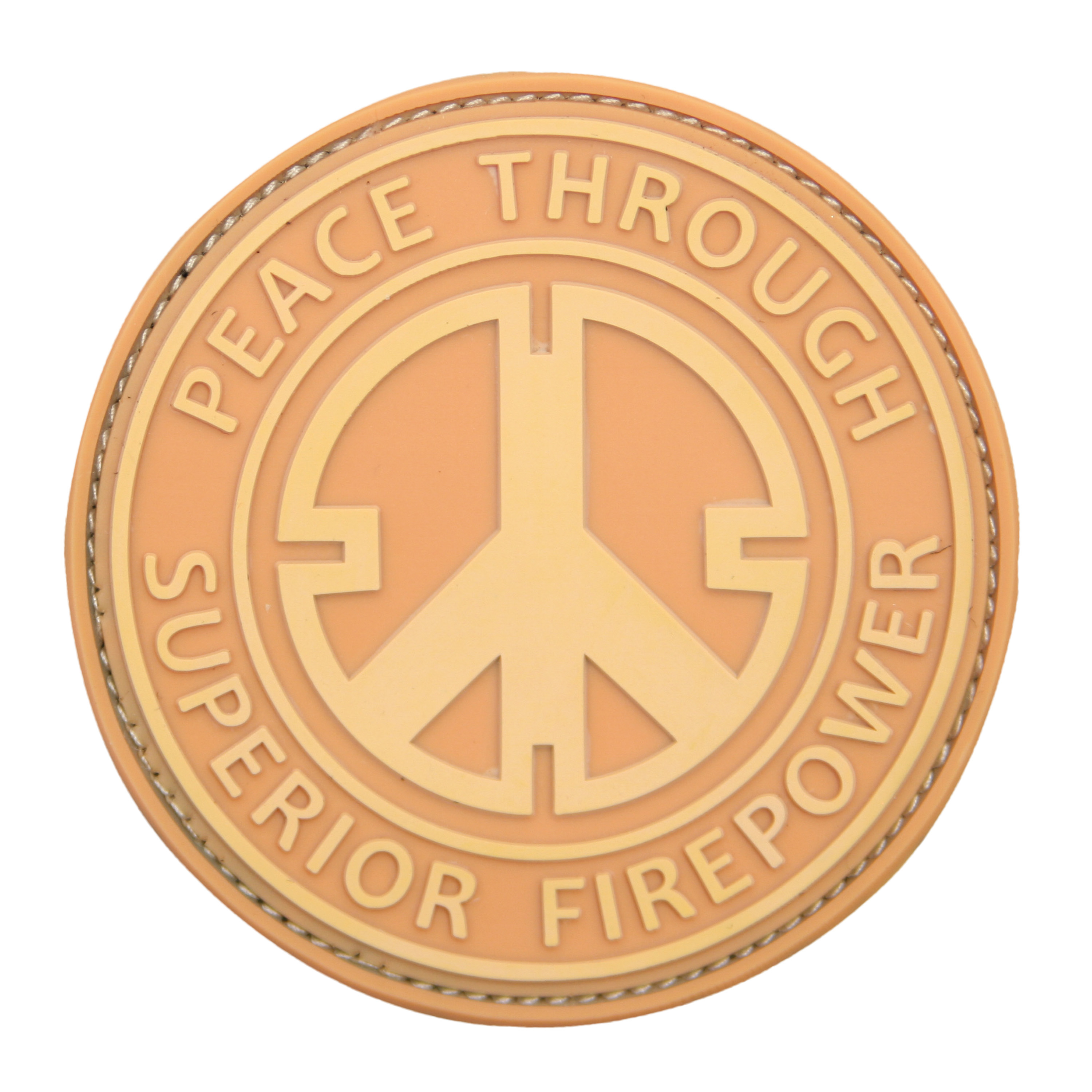 Patch 3D Peace Through Superior Firepower coyote