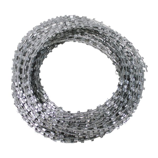 Rouleau de fil barbelé en acier galvanisé 50 m