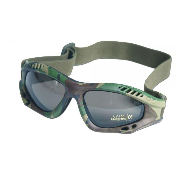 Masque de protection Commando Air-Pro woodland smoke