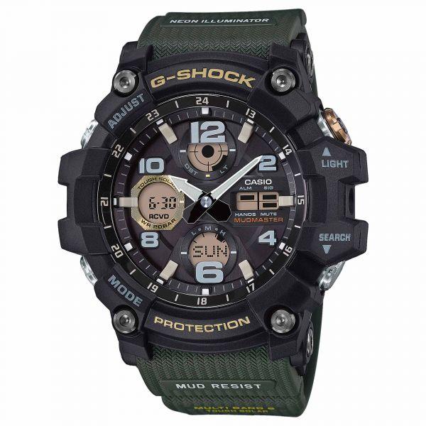 Casio Montre G-Shock Mudmaster GWG-100-1A3ER noir olive