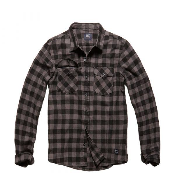 Vintage Industries Chemise Harley Shirt grey check