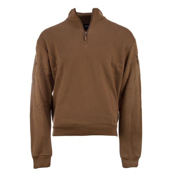 Mil-Tec Sweat-shirt Tactical avec fermeture éclair coyote foncé