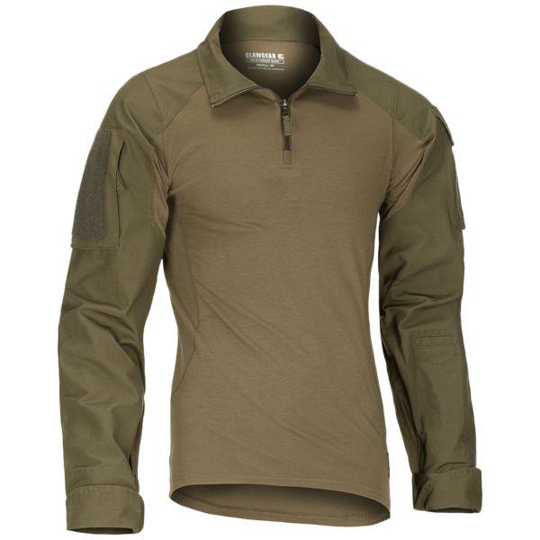 Shirt de combat ClawGear MK III gris pierre / vert olive