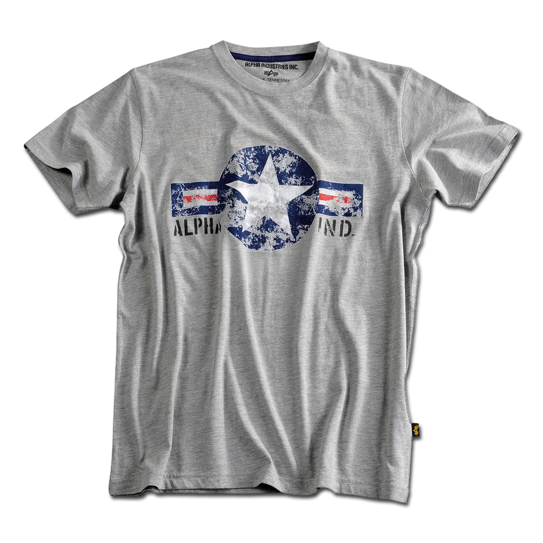 T-Shirt Alpha USAF gris