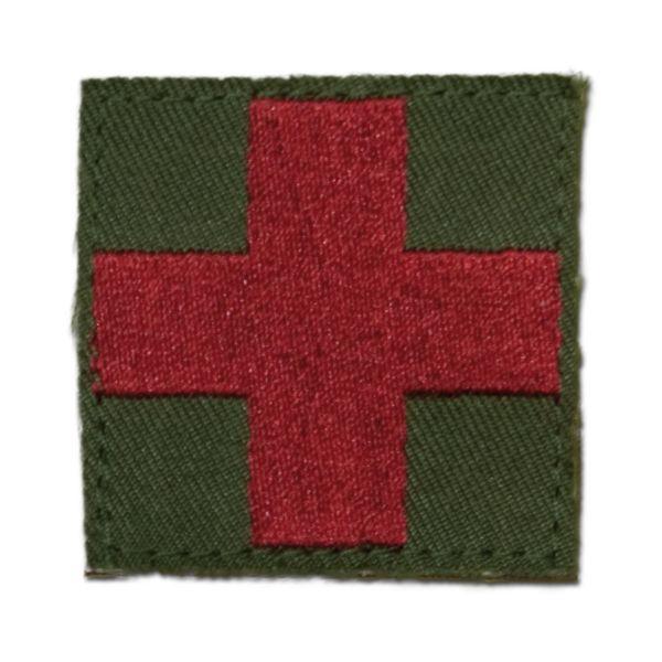 Insigne tissu Croix rouge/Medic velcro olive