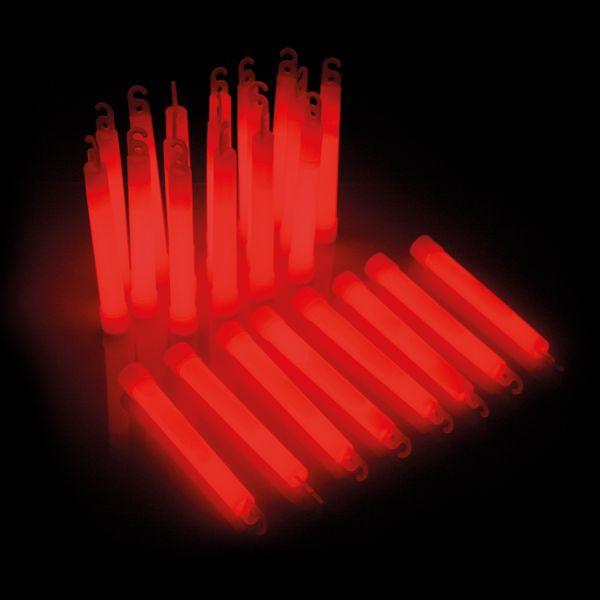 KNIXS Bâtons lumineux Power rouge lot de 25
