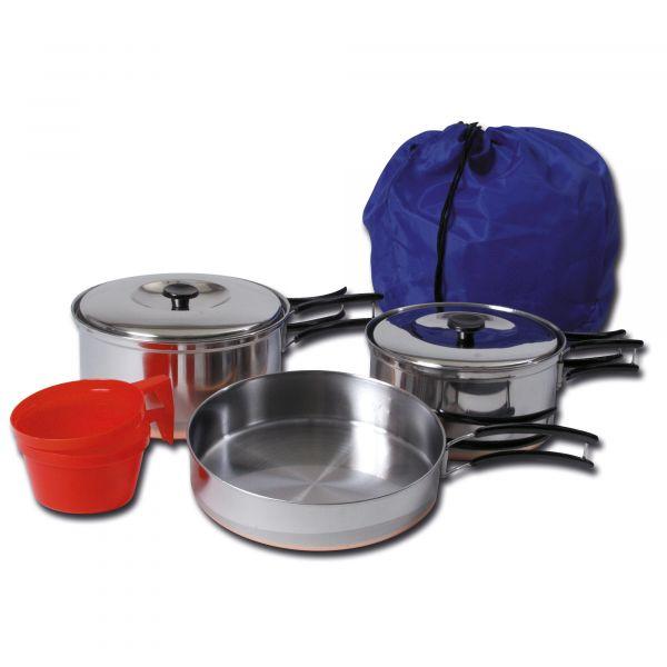 Set de cuisine acier inoxydable pour 2 personnes