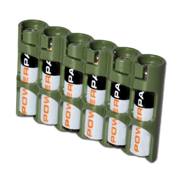 Porte-batteries Powerpax SlimLine 6 x AAA olive