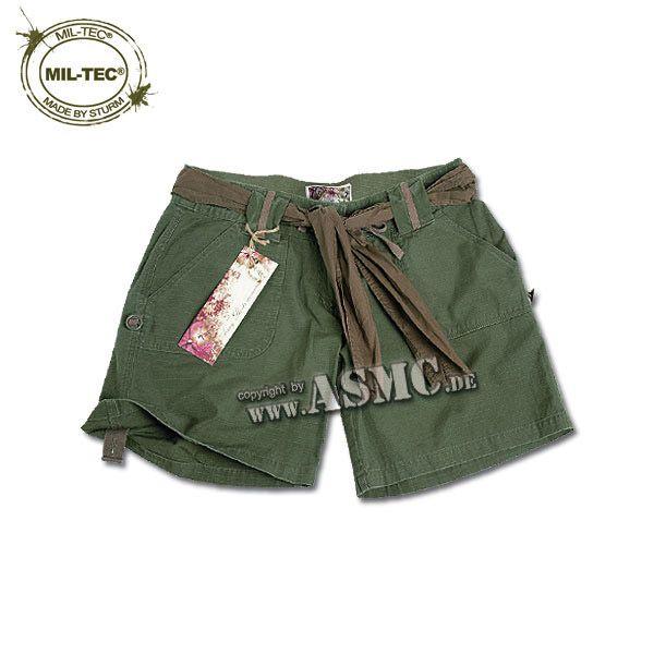 Army Shorts Woman kaki