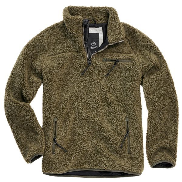 Brandit Pull Troyer polaire peluche olive