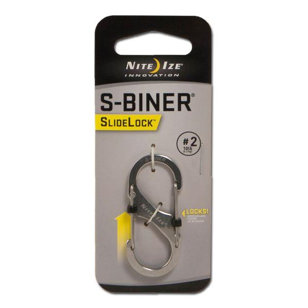Nite Ize Mousqueton S-Biner SideLock acier taille 2