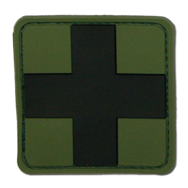 3D-Patch Red Cross Medic kaki-noir