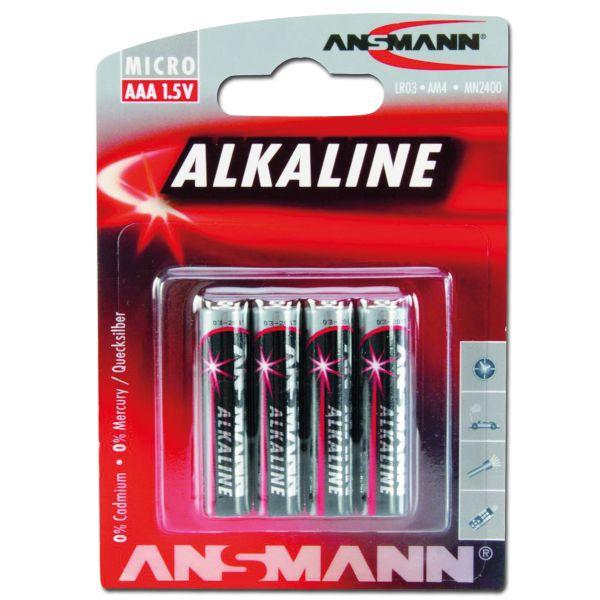 Piles Ansmann Micro AAA Red-Line Lot de 4